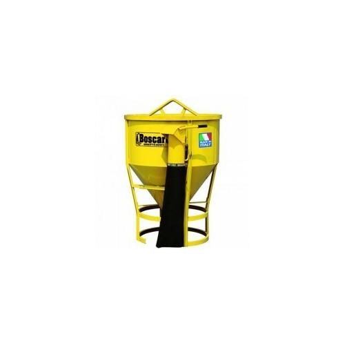 Daruzható konténer gumitömlővel CT-150VALT Model, 1 500 literes pillangószelepes kivitel, 2 méteres gumitömlővel -INC